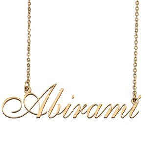 Custom Personalized Abirami Name Necklace
